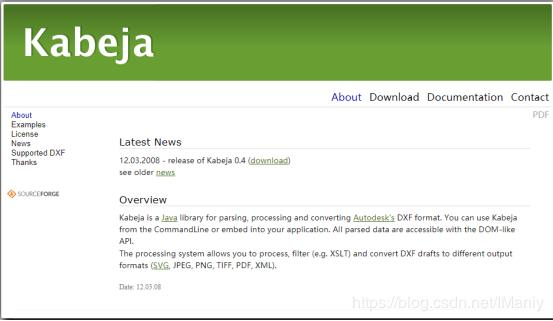 Kabeja a java library for parsing CAD files, DXF to JPEG, PNG, SVG