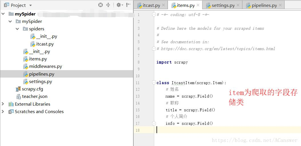 Scrapy crawler framework simple example - Programmer Sought