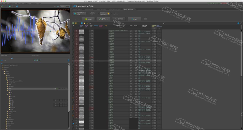 Delayed photographic rendering] LRTimelapse Pro 5 for Mac crack