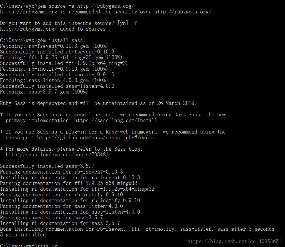 Gem Install sass installation - programmer sought