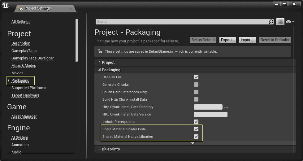 UE4 shrinks Android packaging volume (translated from official