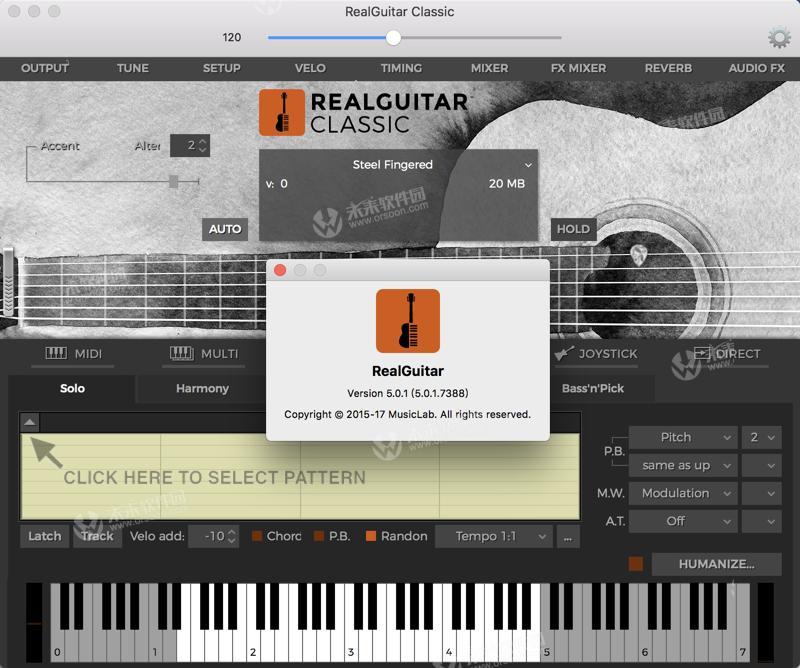 MusicLab RealGuitar 5 for Mac (wood guitar sound source