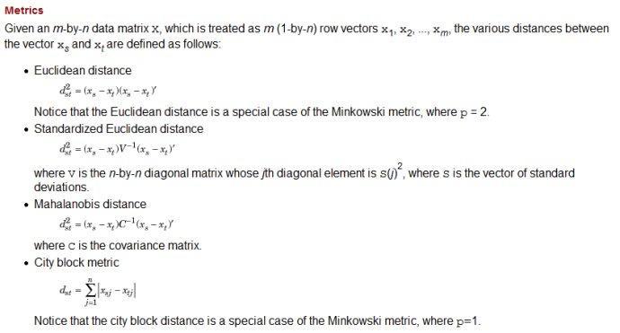 19  Calculate various distances using Matlab - Programmer Sought