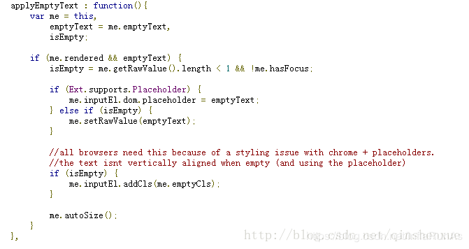 Extjs dynamically sets the hiding and display of components, and