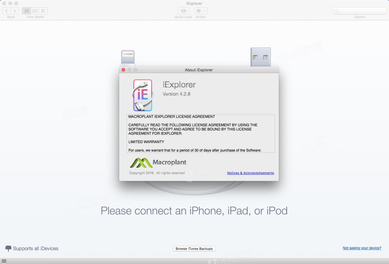 iExplorer Mac (iPhone device management tool) crack version