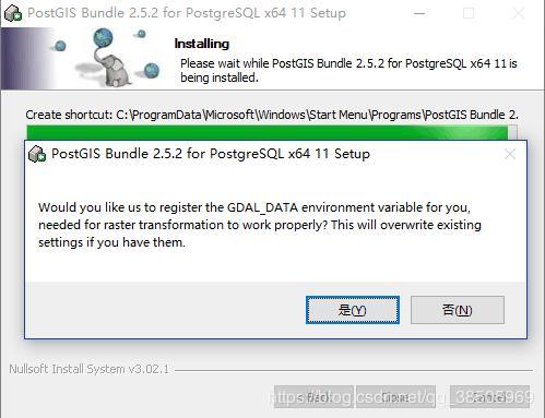Install Postgresql on windows, install the space database