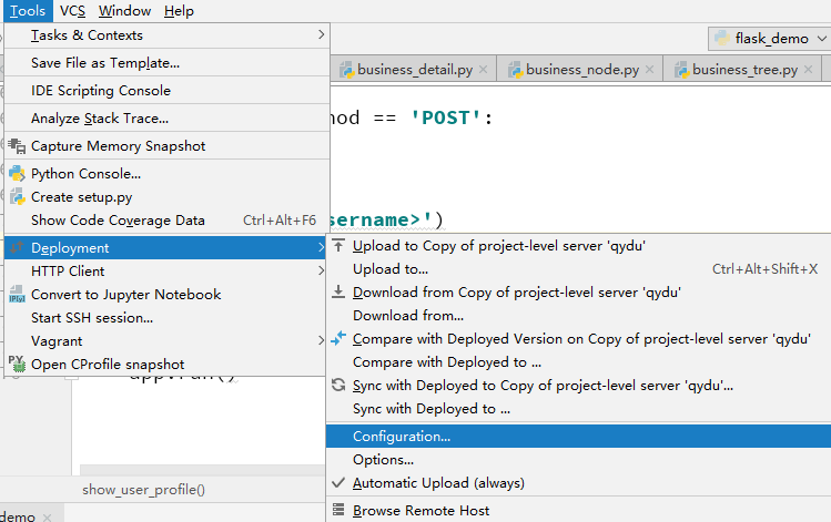 Configuring pycharm Professional to synchronize remote server code