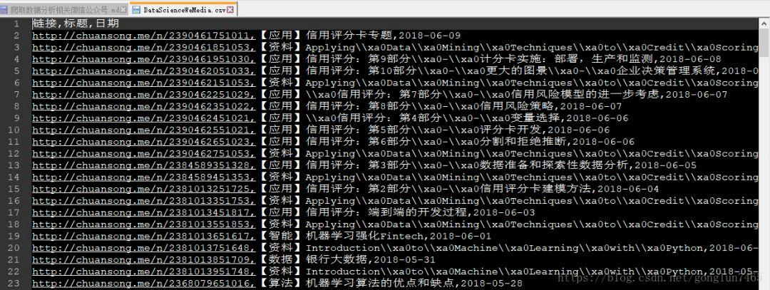 Python crawler to implement WeChat public article article