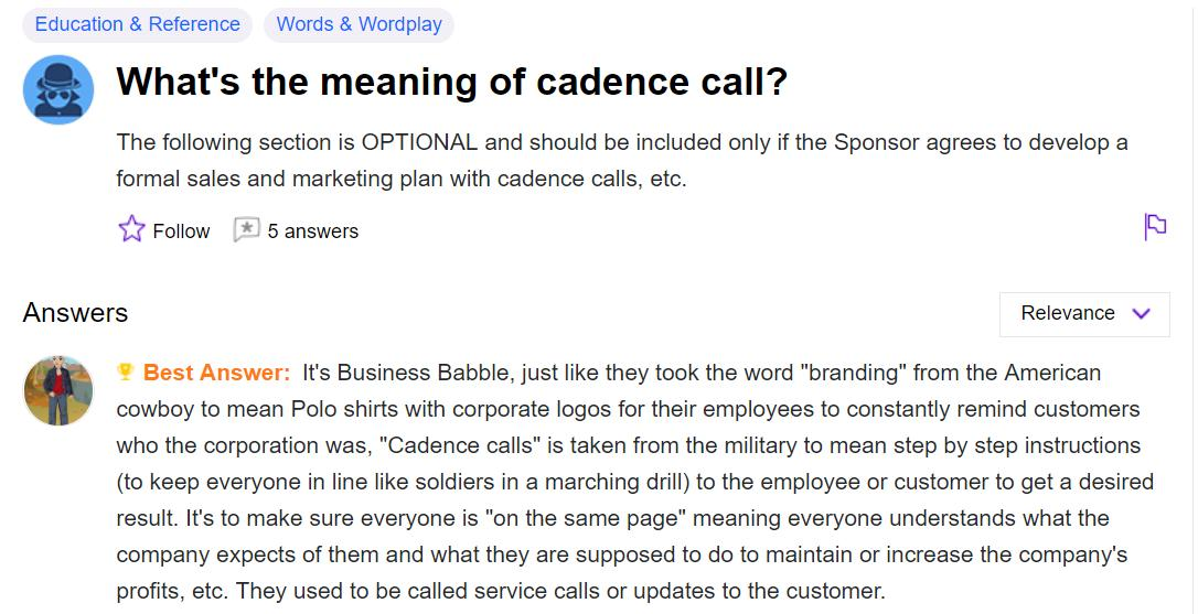 What is Cadence call? - Programmer Sought