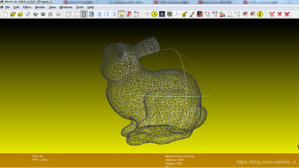 Meshlab extracts the structure point cloud of an existing 3D