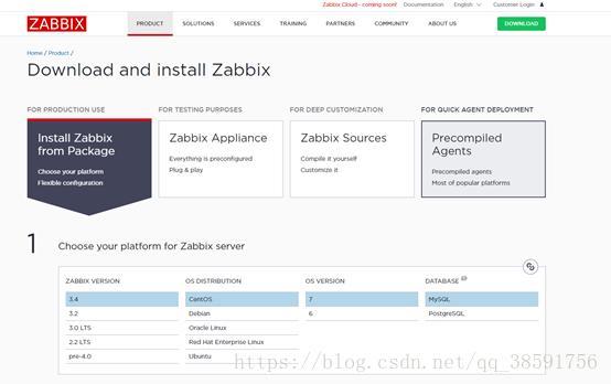 download zabbix agent centos 7