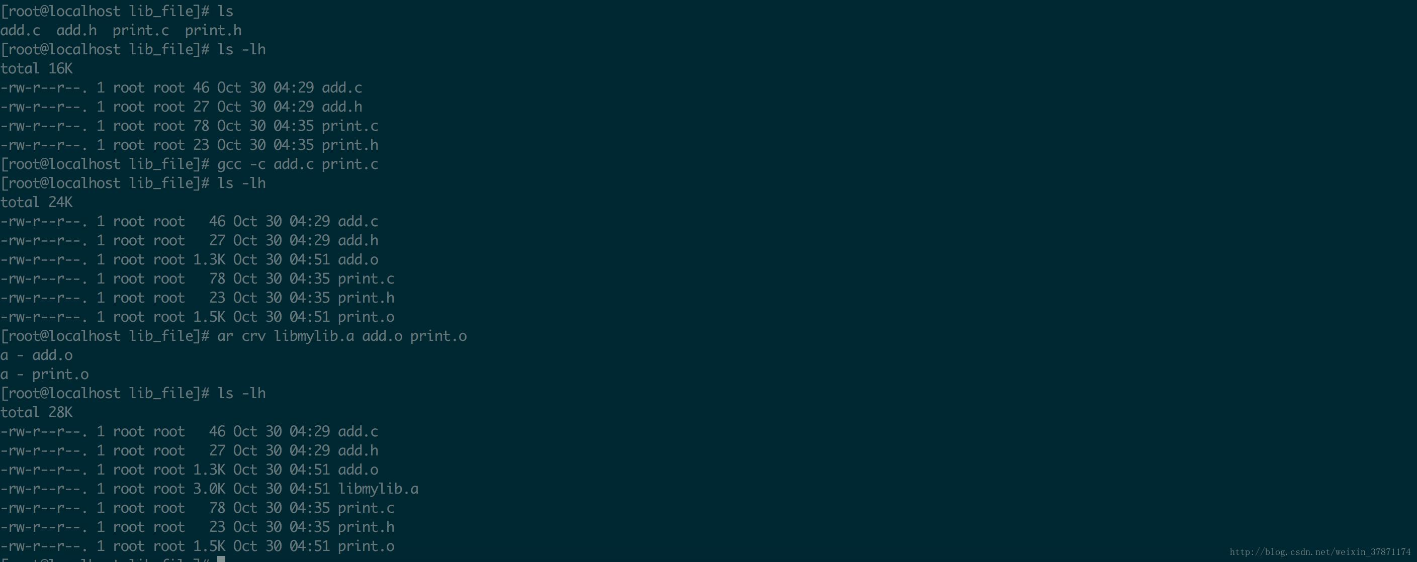 How to compile static libraries and merge multiple  a static