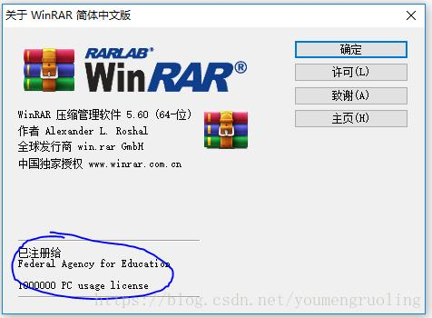 WinRAR to advertise (Simplified Chinese version