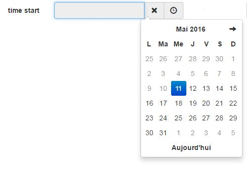 Bootstrap-datetimepicker start date of the date control