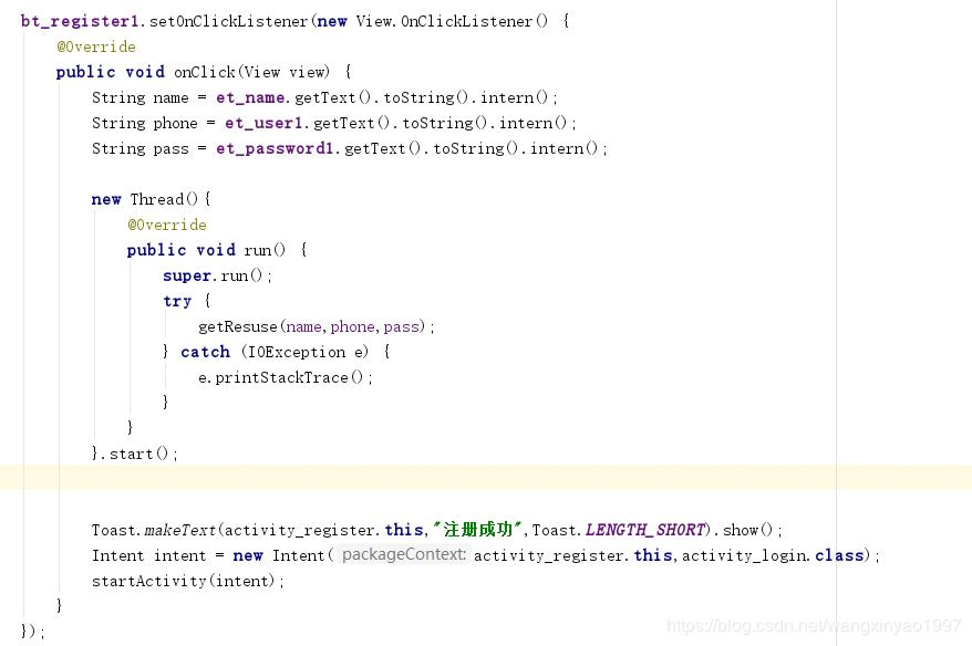 Android studio requests an exception via OKHTTP: Expected URL scheme