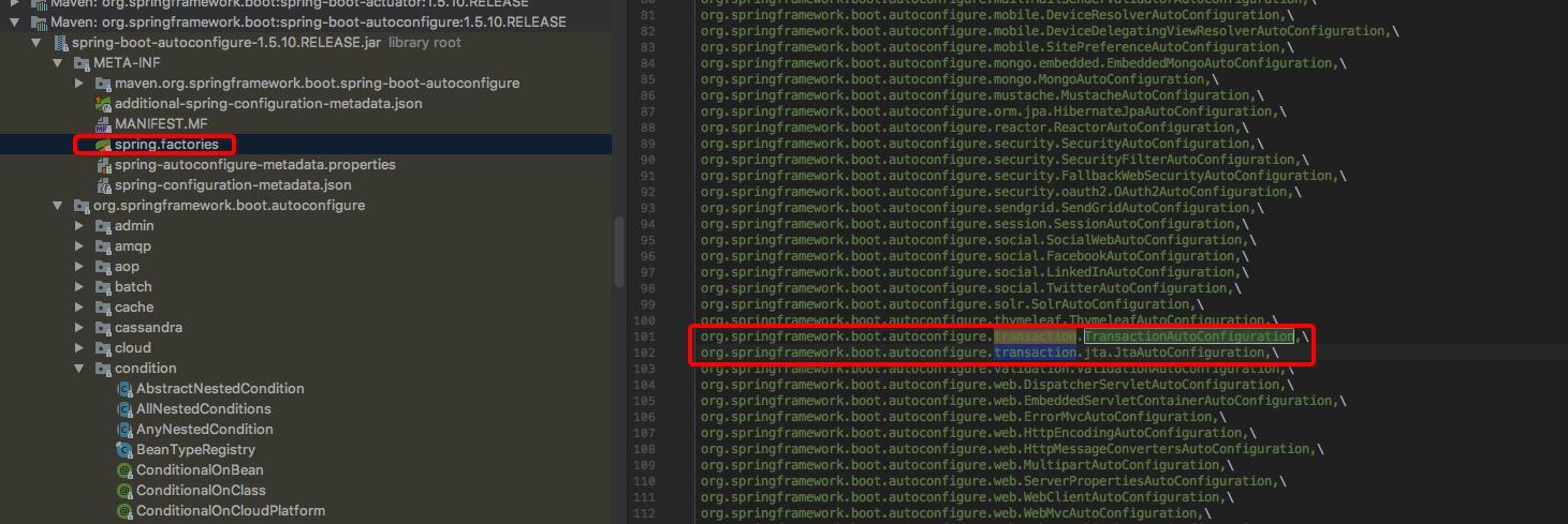 Spring transaction detailed (three) source code detailed