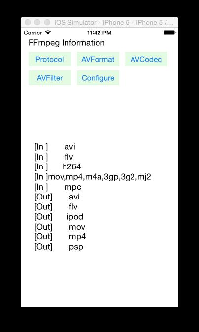 The simplest example of FFmpeg-based mobile IOS HelloWorld