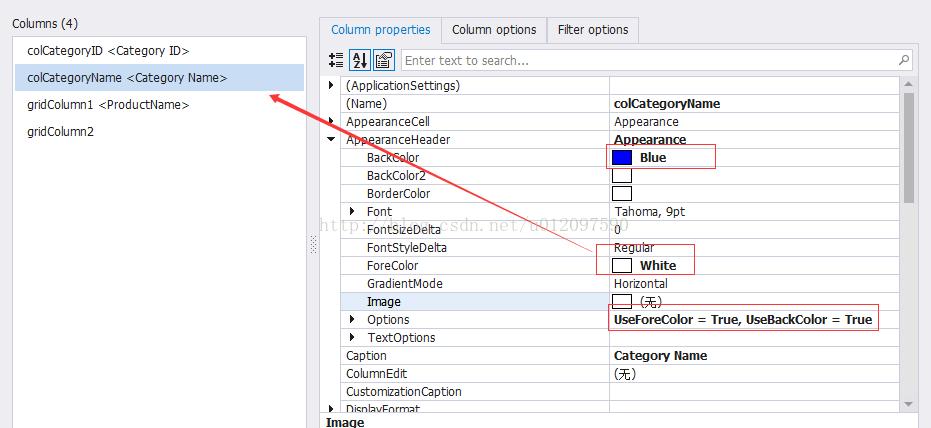 GridView column header setting color - Programmer Sought