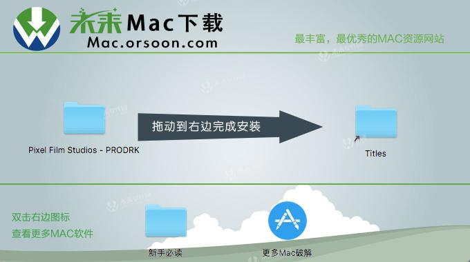 FCPX plugin Pixel Film Studios PRODRK (picture / logo