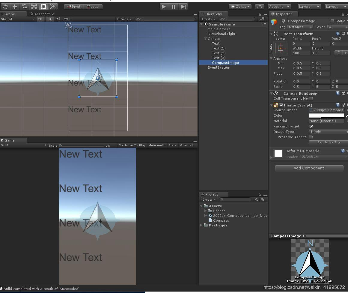 Unity mobile phone compass Android test is effective - Programmer Sought