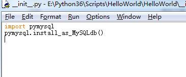 Django adds Mysql model: ModuleNotFoundError: No module named 'mysql