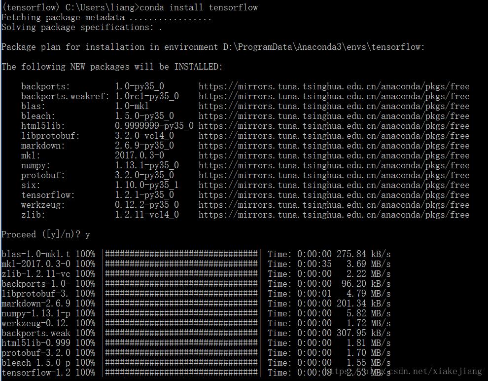Install TensorFlow encountered no module named 'tensorflow