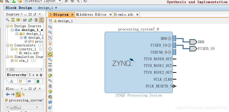 Zynq PS side accesses PL resources through EMIO - Programmer Sought