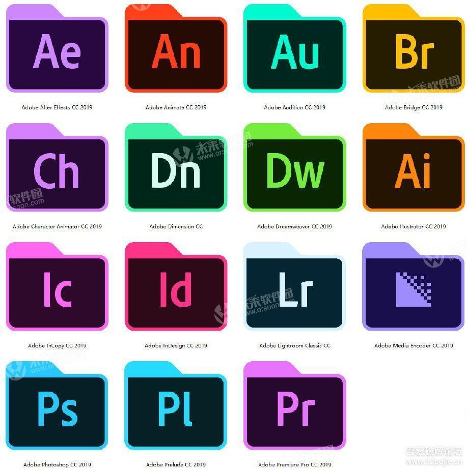 Adobe CC 2019 family bucket crack version - Programmer Sought