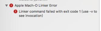 Compile error: Apple Mach-O Linker (Id) Error Linker command