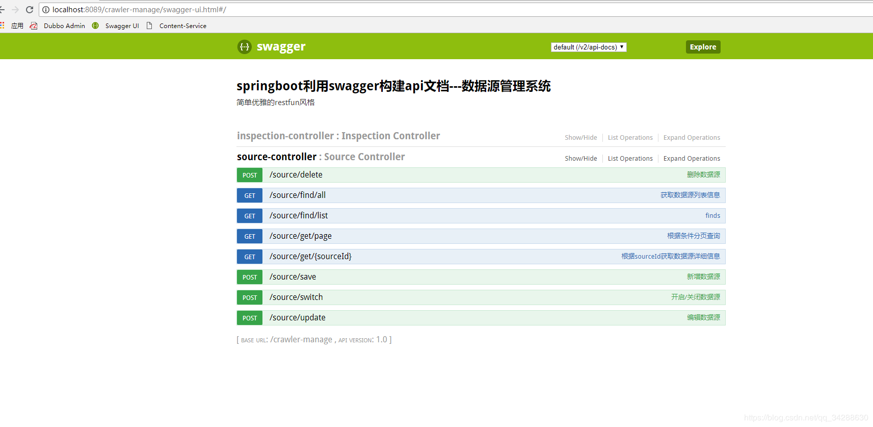 Springboot uses swagger2 0 to build api documents
