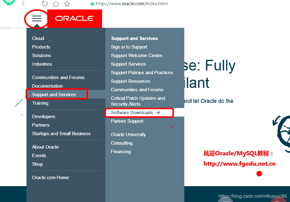 Oracle download and Oracle installation diagram (Oracle19c