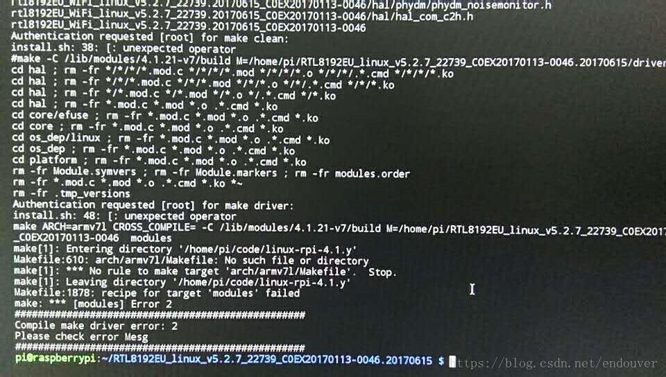 Raspberry Pi 3 reduces the kernel version and installs the Tenda U6