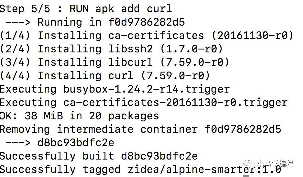 Docker entry (middle) detailed dockerFile - Programmer Sought