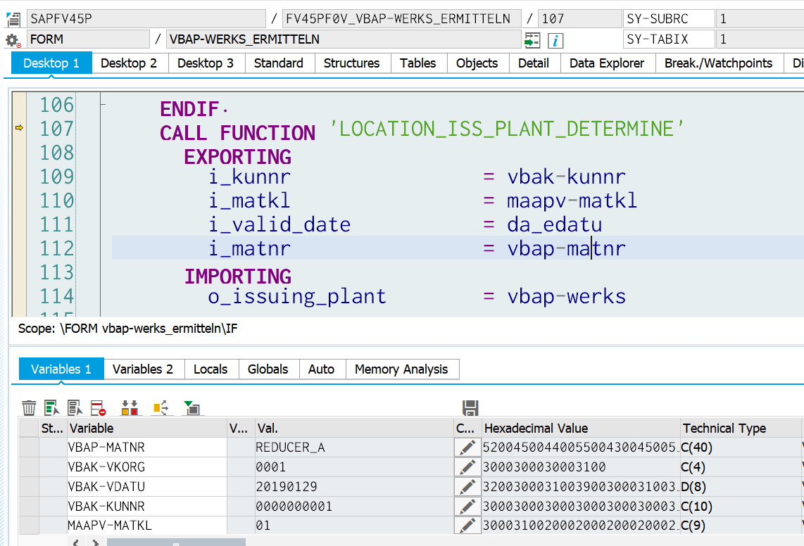 Where is the factory data used in the SAP S/4HANA production