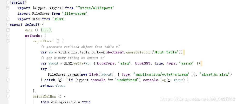 Vue2 0 + element UI el-table data export Excel  - Programmer