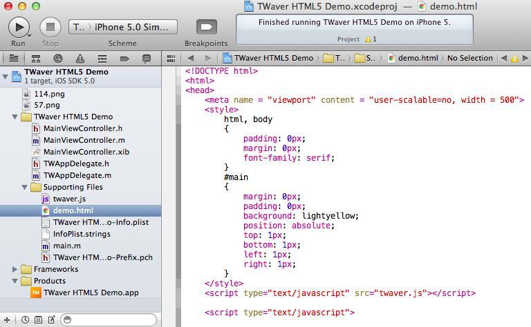 Make an TWaver HTML5 iPhone App - Programmer Sought