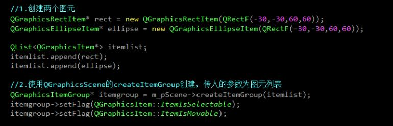 Qt graphics view frame tuple QGraphicsItemGroup - Programmer